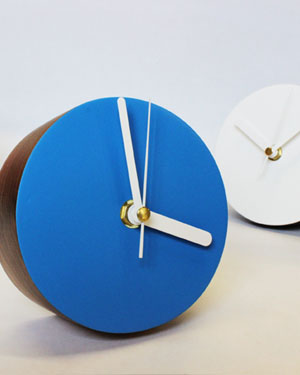 Modern desk clocks made from wood